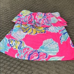 Strapless Lilly Pulitzer top size M women's
